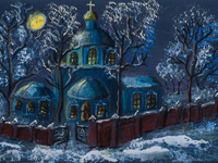 On Christmas Eve, Bartenev Anna : Children's Art Festival Our Kursk: CHILDREN DRAW THE CHURCH