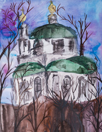 Trinity Cathedral, Kursk, Golovlev Vladimir : Children's Art Festival Our Kursk: CHILDREN DRAW THE CHURCH
