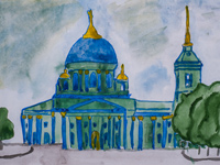 Cathedral of the Sign, Kursk, Harina Pauline : Children's Art Festival Our Kursk: CHILDREN DRAW THE CHURCH