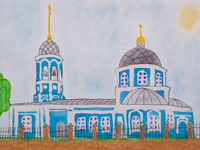 Temple Entry of the Most Holy Theotokos into the Temple (Vvedensky church), Lesnaya Anastasiya : Children's Art Festival Our Kursk: CHILDREN DRAW THE CHURCH