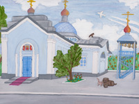 Temple of Our Lady of Tikhvin, Fatezh, Ephraim Eugene : Children's Art Festival Our Kursk: CHILDREN DRAW THE CHURCH