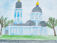 Temple Entry of the Most Holy Theotokos into the Temple (Vvedensky church), Bolotova Irina : Children's Art Festival Our Kursk: CHILDREN DRAW THE CHURCH