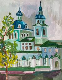 Sergiev Kazan Cathedral in Kursk, Gladskih Anastasia : Children's Art Festival Our Kursk: CHILDREN DRAW THE CHURCH
