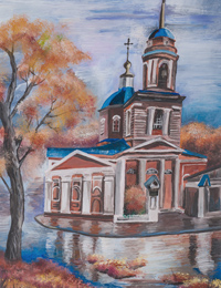 Church of St. Michael the Archangel, Ryshkov Zlata :: Children's Art Festival Our Kursk: CHILDREN DRAW THE CHURCH