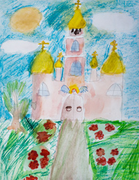 My Shining Temple, Bugorskaya Elena : Children's Art Festival Our Kursk: CHILDREN DRAW THE CHURCH