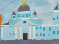 Cathedral of the Sign, Starikova Ekaterina : Children's Art Festival Our Kursk: CHILDREN DRAW THE CHURCH
