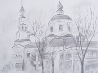 Trinity Church, Komardina Anastasia : Children's Art Festival Our Kursk: CHILDREN DRAW THE CHURCH
