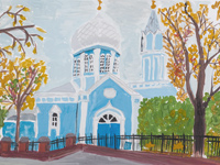 Church of St. Nikita, Kursk, Frolova Anastasiya : Children's Art Festival Our Kursk: CHILDREN DRAW THE CHURCH