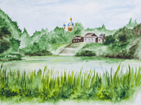 Church of the Ascension, Kursk, Amelyanchik Anna : Children's Art Festival Our Kursk: CHILDREN DRAW THE CHURCH