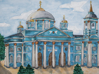 Gods grace in the Sign Monastery, 1613g., Voronova Viktoriya : Children's Art Festival Our Kursk: CHILDREN DRAW THE CHURCH