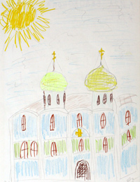 My Temple, Belokonova Elizabeth : Children's Art Festival Our Kursk: CHILDREN DRAW THE CHURCH