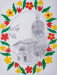 Ilyinsky temple, Pilyugina Alina : Children's Art Festival Our Kursk: CHILDREN DRAW THE CHURCH