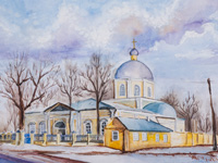 Vvedensky church, Kursk, Strukova Anastasia : Children's Art Festival Our Kursk: CHILDREN DRAW THE CHURCH