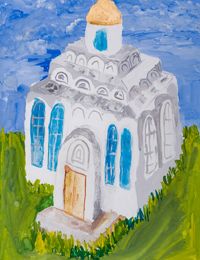Temple of Cyril and Methodius, Kursk, Pinaeva Sofia : Children's Art Festival Our Kursk: CHILDREN DRAW THE CHURCH