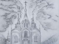 Root Hermitage, Gavrilov Vladimir : Children's Art Festival Our Kursk: CHILDREN DRAW THE CHURCH